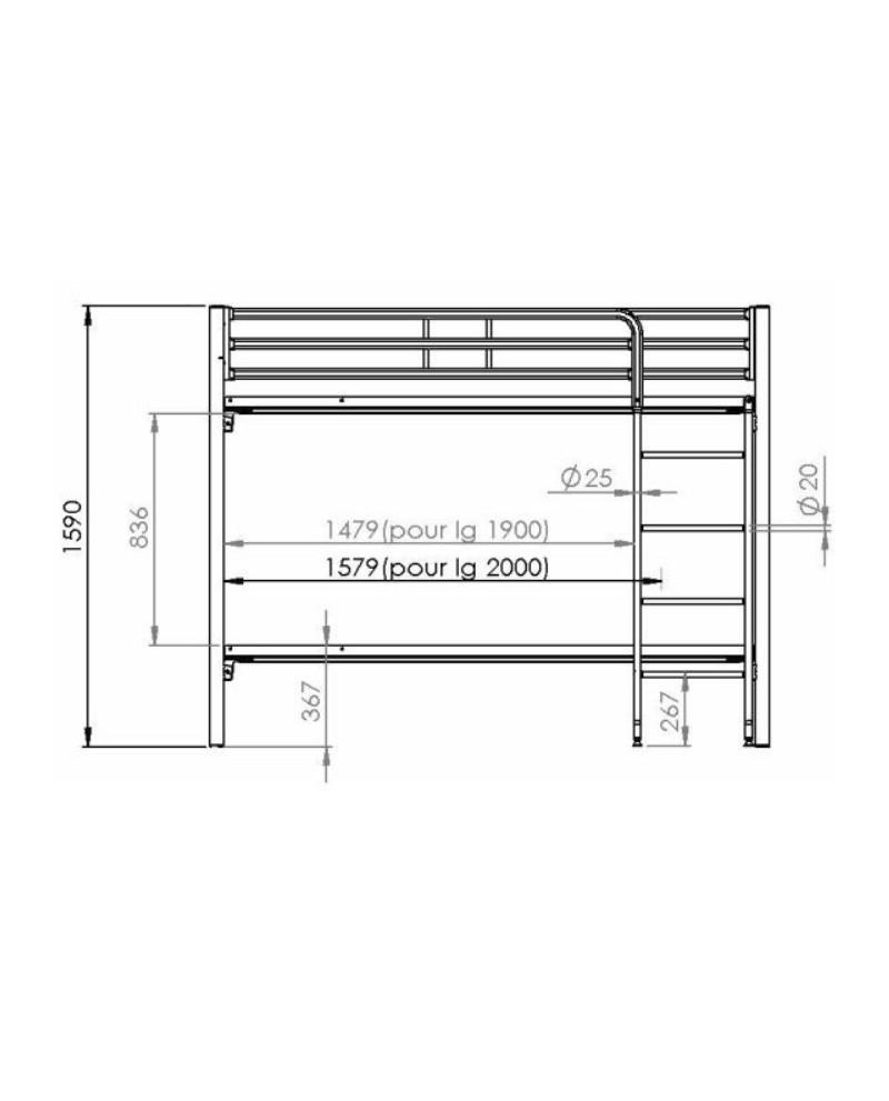 lit superpos s m tal conforme aux normes de s curit 95. Black Bedroom Furniture Sets. Home Design Ideas