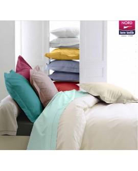 Taie d'oreiller Volant Piqué Percale de coton Uni 80 fils/cm²
