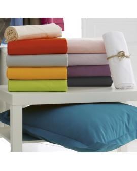 Taie d'oreiller Volant Piqué 100% coton Uni 57 fils/cm²
