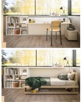 Bureau + lit simple