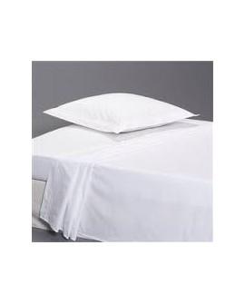 drap plat polycoton blanc