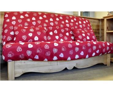canap clic clac 130 x 190 et 140 x 190 socle bois galis literie. Black Bedroom Furniture Sets. Home Design Ideas