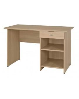 Table bureau en mélaminé avec 1 niche et 1 tiroir